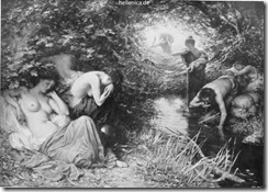 Los muertos bebiendo las aguas del río Letheo-Kennington