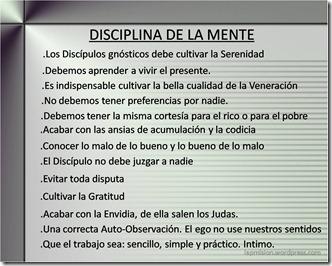 disciplina de la mente